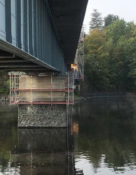 Brückensanierung Saalburg