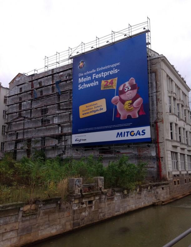 Werbebannermontage