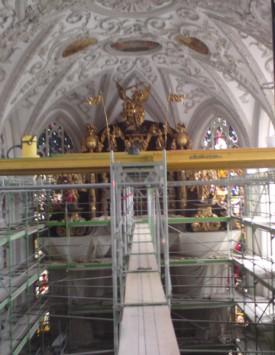 Gerüstbau Kirche Landsberg